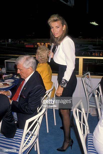 Personality Vanna White and Merv Griffin attending First Annual Hollywood Stars Night on June 22 1990 at Hollywood Park in Hollywood California