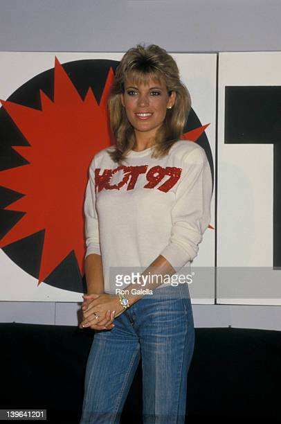 Personality Vanna White attending 'Press Conference for HOT 97 FM Radio' on September 22 1988 at the Plaza Hotel in New York City New York
