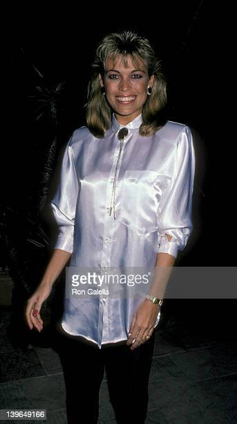 Personality Vanna White attending the premiere party for 'Down And Out In Beverly Hills' on January 28 1986 at Pips in Beverly Hills California