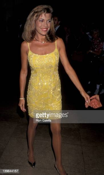 Personality Vanna White attending the taping of 'NBC SpecialComedy Hall of Fame' on August 29 1993 at the Beverly Hilton Hotel in Beverly Hills...