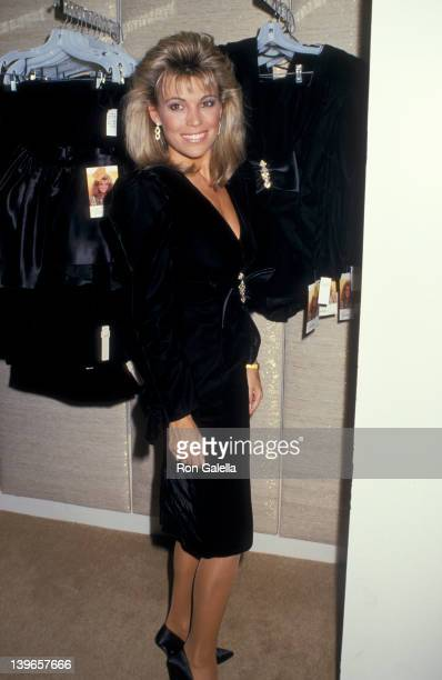 Personality Vanna White attending 'Vanna White Unveils New Clothing Line' on October 13 1987 at Bloomingdale's in New York City New York