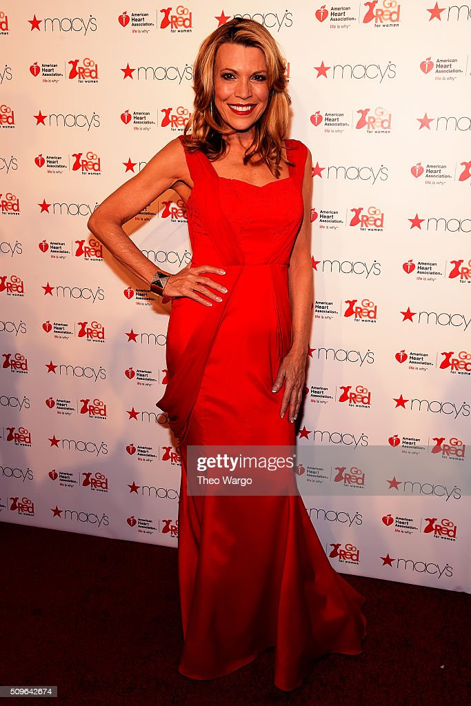 TV Personality Vanna White attends The American Heart Association's Go Red For Women Red Dress Collection 2016 Presented By Macy's at The Arc, Skylight at Moynihan Station on February 11, 2016 in New York City.