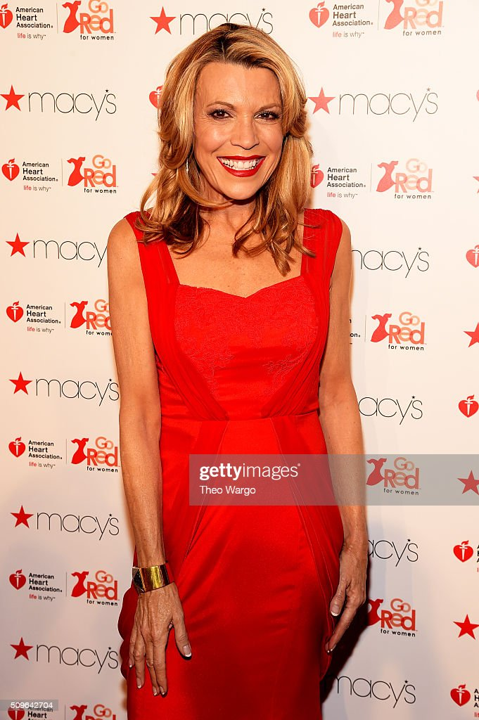 TV Personality <a gi-track='captionPersonalityLinkClicked' href=/galleries/search?phrase=Vanna+White&family=editorial&specificpeople=1375107 ng-click='$event.stopPropagation()'>Vanna White</a> attends The American Heart Association's Go Red For Women Red Dress Collection 2016 Presented By Macy's at The Arc, Skylight at Moynihan Station on February 11, 2016 in New York City.