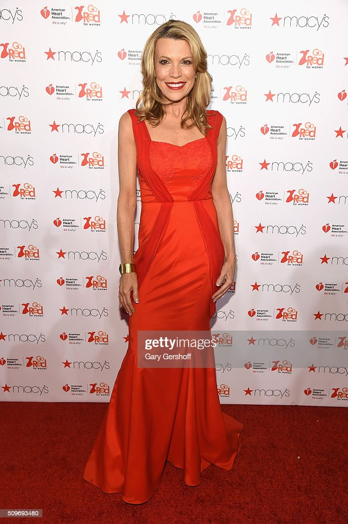 TV personality <a gi-track='captionPersonalityLinkClicked' href=/galleries/search?phrase=Vanna+White&family=editorial&specificpeople=1375107 ng-click='$event.stopPropagation()'>Vanna White</a> attends The American Heart Association's Go Red for Women Dress Collection 2016 at Skylight at Moynihan Station on February 11, 2016 in New York City.