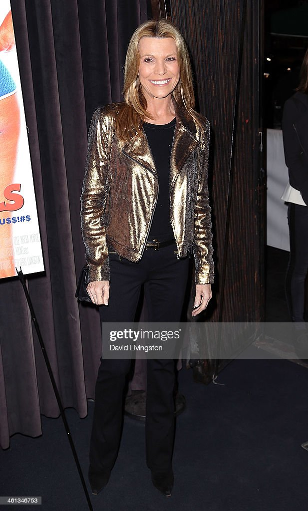 TV personality <a gi-track='captionPersonalityLinkClicked' href=/galleries/search?phrase=Vanna+White&family=editorial&specificpeople=1375107 ng-click='$event.stopPropagation()'>Vanna White</a> attends the premiere of GoDigital's 'Dumbbells' at SupperClub Los Angeles on January 7, 2014 in Los Angeles, California.