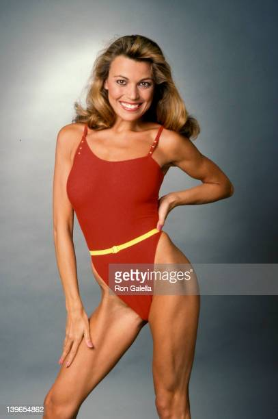 Personality Vanna White being photographed at 'Exclusive Photo Session' on April 1 1984 at her home in Los Angeles California