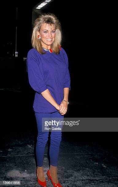 Personality Vanna White being photographed on January 14 1987 at Nicky Blair's Restaurant in Hollywood California
