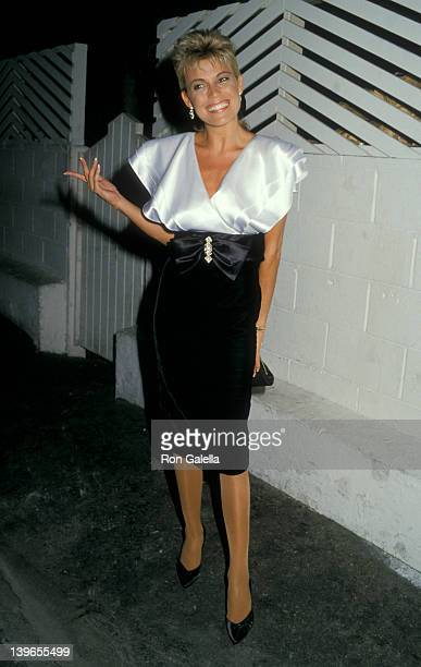 Personality Vanna White being photographed on September 9 1987 at Spago Restaurant in West Hollywood California