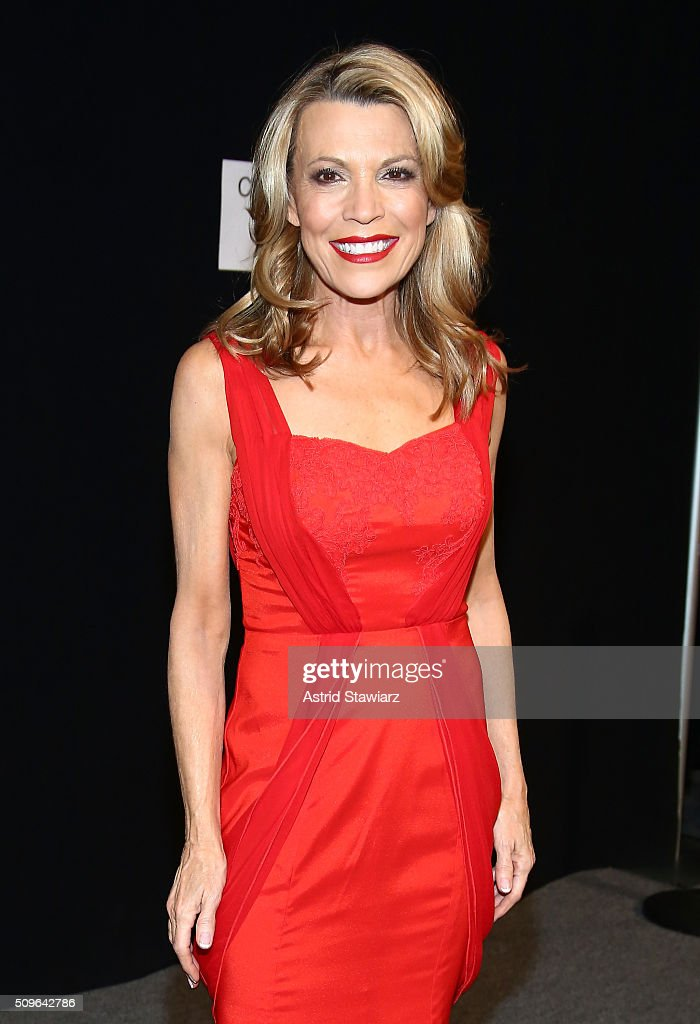 TV Personality <a gi-track='captionPersonalityLinkClicked' href=/galleries/search?phrase=Vanna+White&family=editorial&specificpeople=1375107 ng-click='$event.stopPropagation()'>Vanna White</a> prepares backstage at The American Heart Association's Go Red For Women Red Dress Collection 2016 Presented By Macy's at The Arc, Skylight at Moynihan Station on February 11, 2016 in New York City.