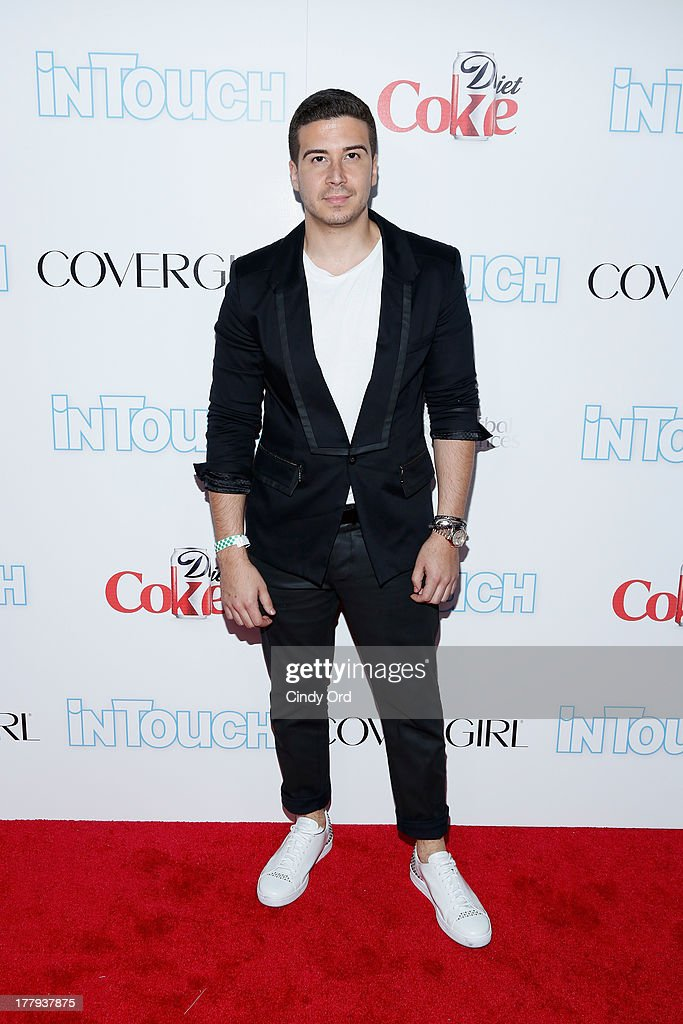 TV Personality Vinny Guadagnino arrives at Intouch Weekly's 'ICONS & IDOLS Party' at FINALE Nightclub on August 25, 2013 in New York City.