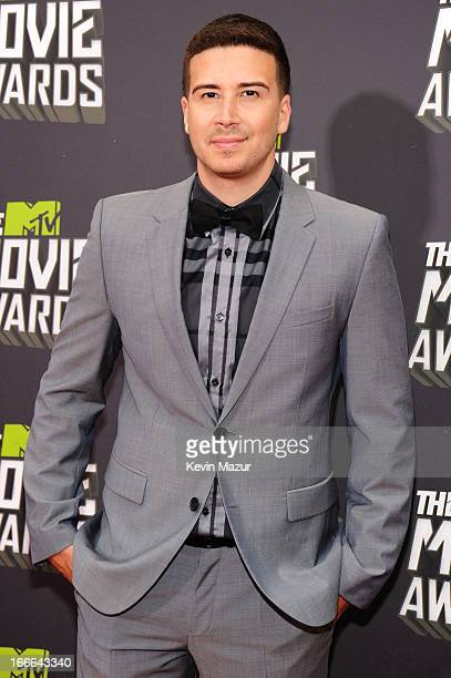 TV personality Vinny Guadagnino arrives at the 2013 MTV Movie Awards at Sony Pictures Studios on April 14 2013 in Culver City California
