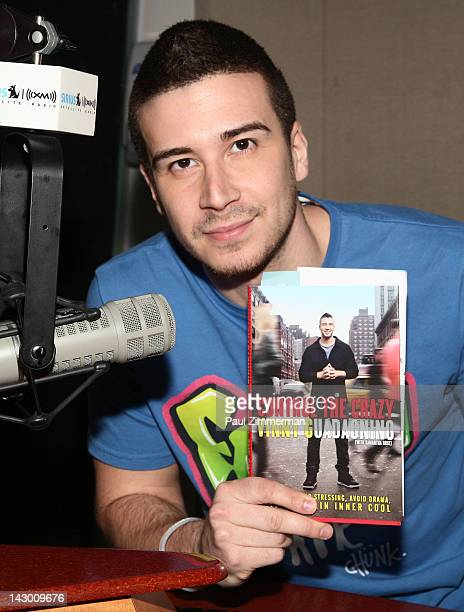 TV personality Vinny Guadagnino visits the Catholic Channel with host Lino Rulli at SiriusXM Studio on April 17 2012 in New York City