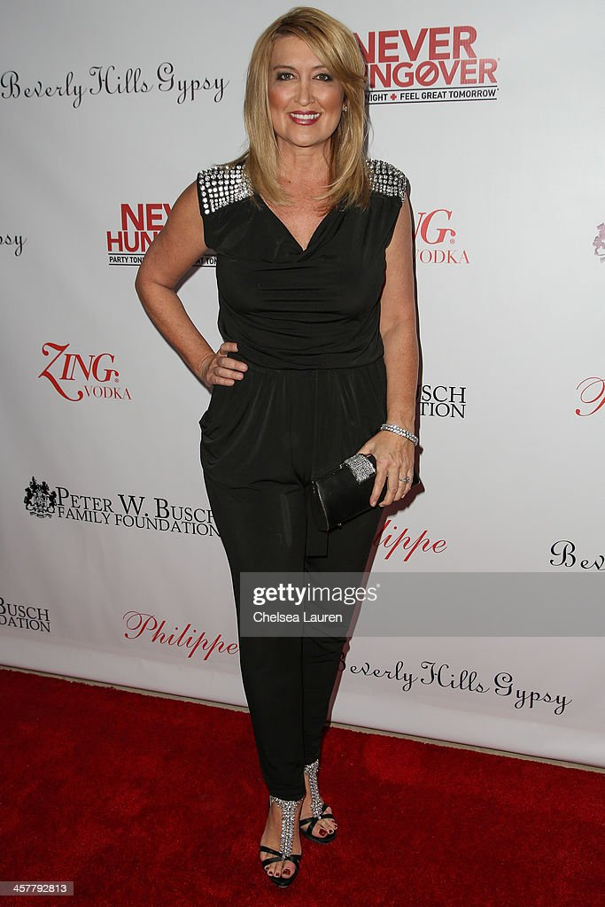 TV personality Wendy Burch arrives at The Maloof Foundation and Jacob's Peter W. Busch family foundation holiday toy donation on December 18, 2013 in Beverly Hills, California.