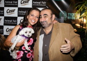 TV Personality Wendy Diamond and her dog Lucky with actor Ken Davitian attend the 'Doggy Fiesta' hosted by Wendy Diamond and her dog Lucky held at...