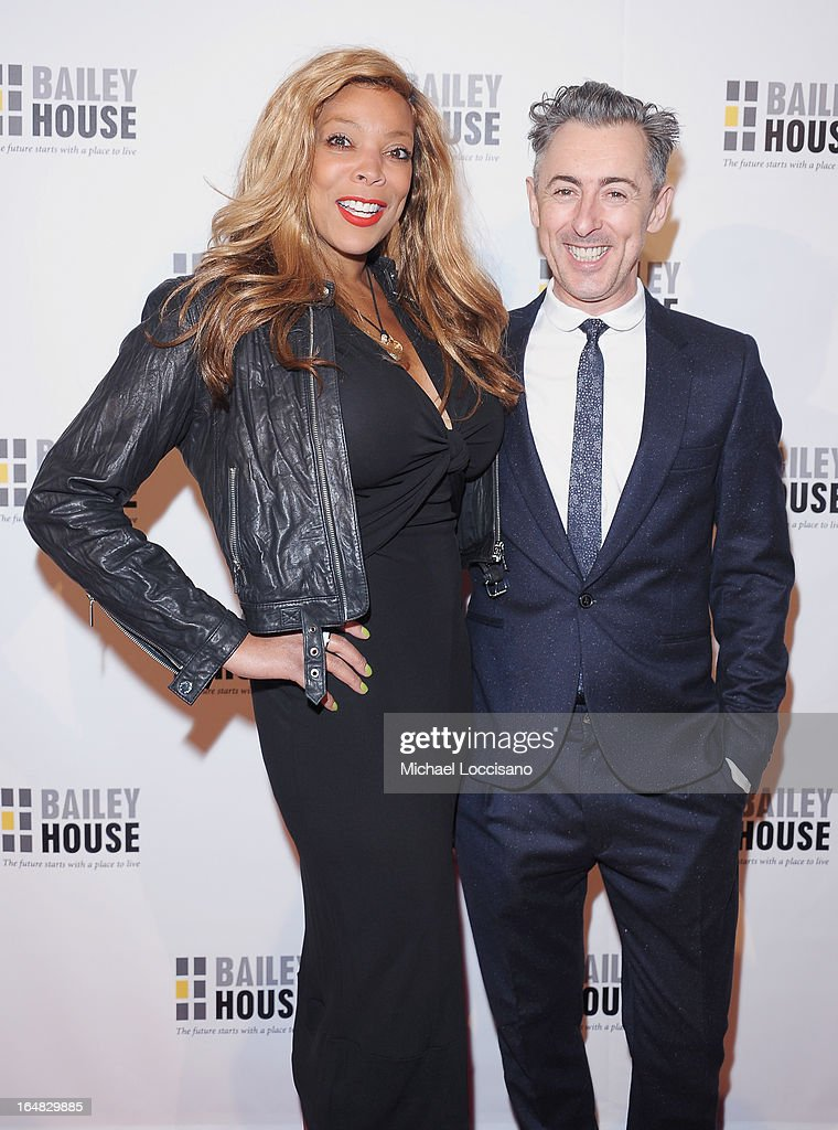 TV Personality Wendy Williams an actor Alan Cumming attend the Bailey House 30th Anniversary Gala at Pier 60 on March 28, 2013 in New York City.