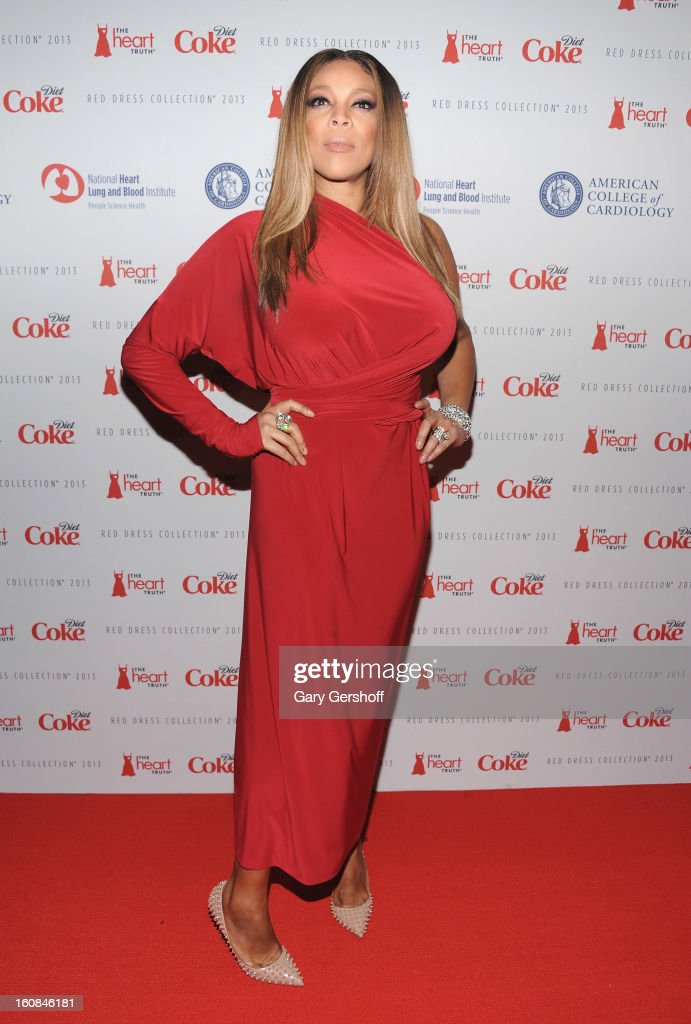 TV personality Wendy Williams attends The Heart Truth's Red Dress Collection during Fall 2013 Mercedes-Benz Fashion Week at Hammerstein Ballroom on February 6, 2013 in New York City.