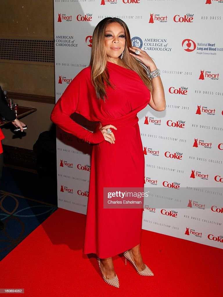 TV personality Wendy Williams attends The Heart Truth's Red Dress Collection Fall 2013 Mercedes-Benz Fashion Show at 499 Seventh Avenue on February 6, 2013 in New York City.