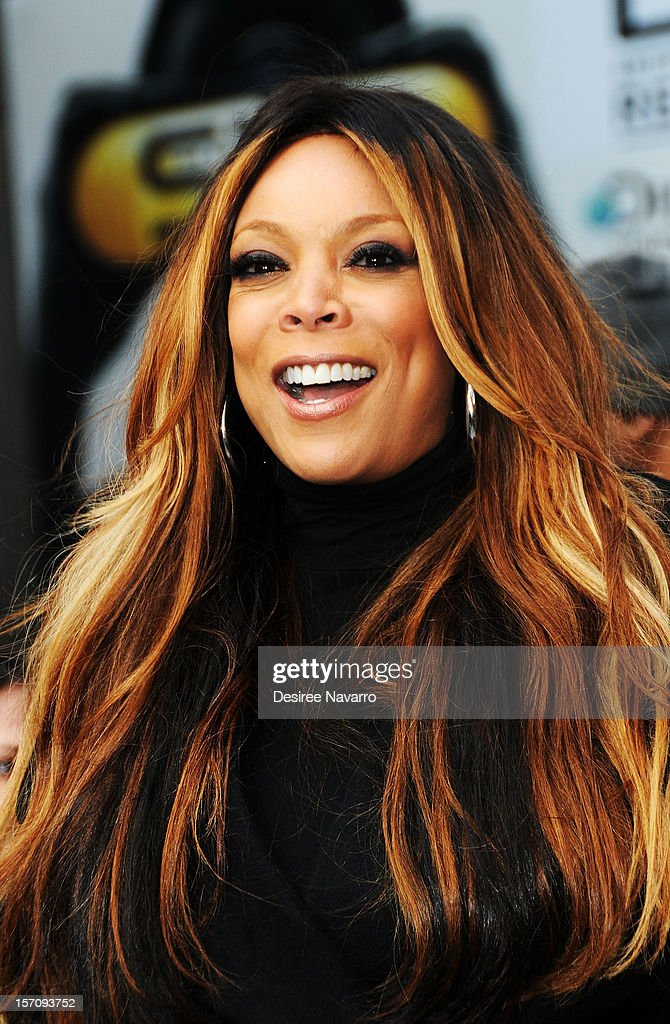 TV personality Wendy Williams attends Wendy Williams 'I'd Rather Go Naked Than Wear Fur' Winter PETA Campaign Launch at Times Square on November 28, 2012 in New York City.