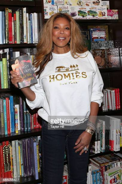 TV personality Wendy Williams promotes her new book 'Hold Me In Contempt A Romance' at Barnes Noble Tribeca on April 15 2014 in New York City