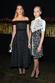 TV personality Whitney Port and actress Portia Doubleday attend the J Mendel fashion show during Fall 2016 New York Fashion Week at Cedar Lake on...