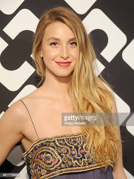 TV personality Whitney Port arrives at Diane Von Furstenberg's 'Journey Of A Dress' premiere opening party at Wilshire May Company Building on...