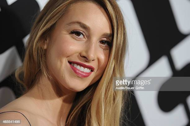 Personality Whitney Port attends Diane Von Furstenberg's 'Journey Of A Dress' Premiere Opening Party at Wilshire May Company Building on January 10...