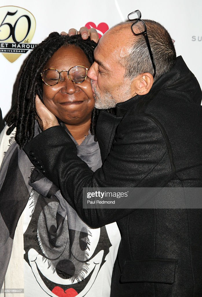 TV personality <a gi-track='captionPersonalityLinkClicked' href=/galleries/search?phrase=Whoopi+Goldberg&family=editorial&specificpeople=202463 ng-click='$event.stopPropagation()'>Whoopi Goldberg</a> and photographer Timothy White attend Sunset Marquis Hotel 50th Anniversary Birthday Bash at Sunset Marquis Hotel & Villas on November 16, 2013 in West Hollywood, California.