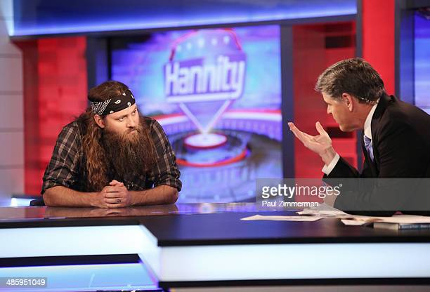 TV personality Willie Robertson and Host Sean Hannity host of FOX's 'Hannity With Sean Hannity' at FOX Studios on April 21 2014 in New York City