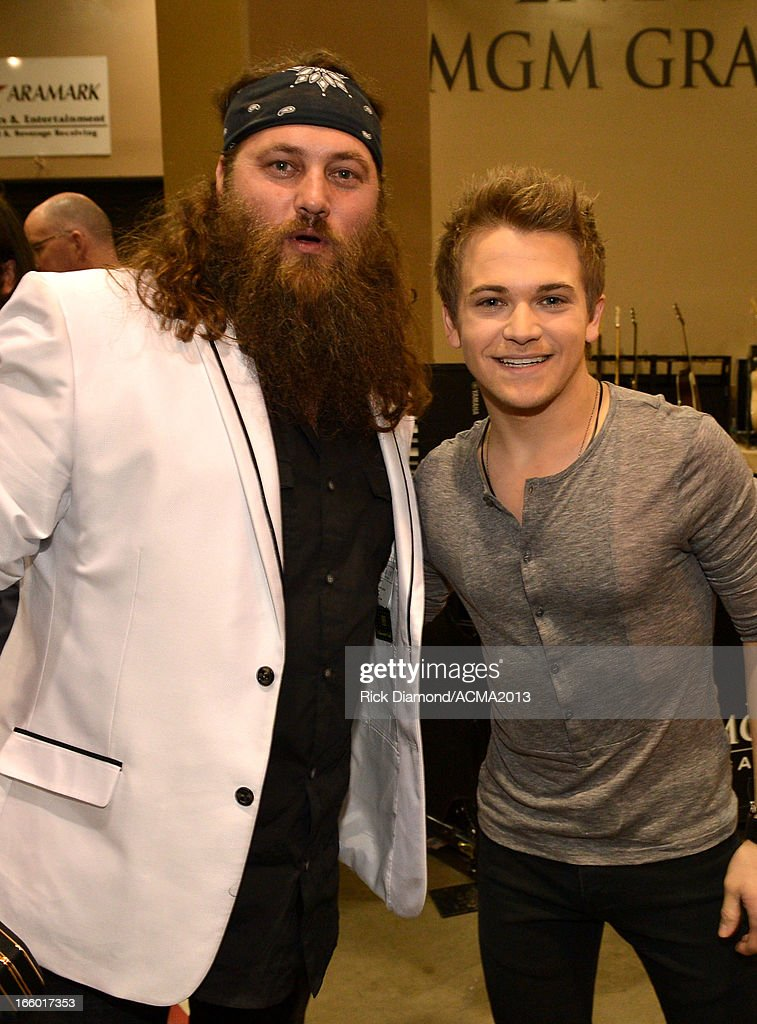 TV personality Willie Robertson of Duck Dynasty and musician <a gi-track='captionPersonalityLinkClicked' href=/galleries/search?phrase=Hunter+Hayes&family=editorial&specificpeople=3290701 ng-click='$event.stopPropagation()'>Hunter Hayes</a> attend the 48th Annual Academy of Country Music Awards at the MGM Grand Garden Arena on April 7, 2013 in Las Vegas, Nevada.