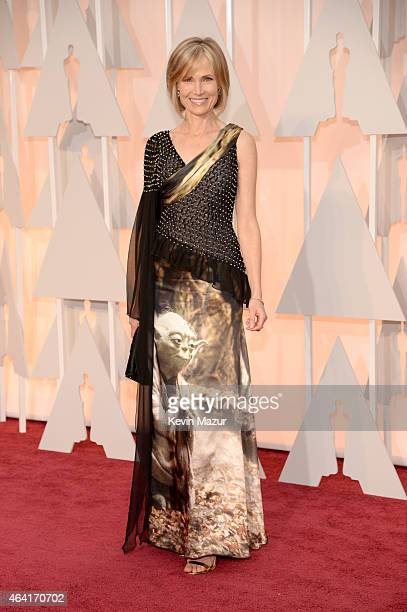 TV personality Willow Bay attends the 87th Annual Academy Awards at Hollywood Highland Center on February 22 2015 in Hollywood California