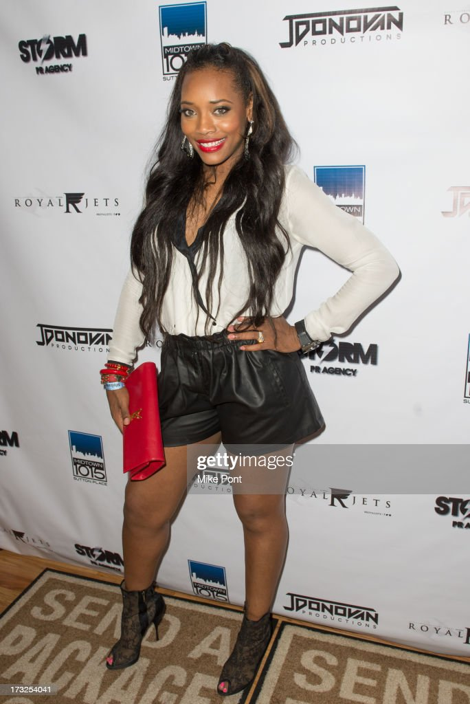 TV Personality Yandy Smith attends Renee Graziano's Celebrity Dinner Party at Midtown 1015 on July 10, 2013 in New York City.