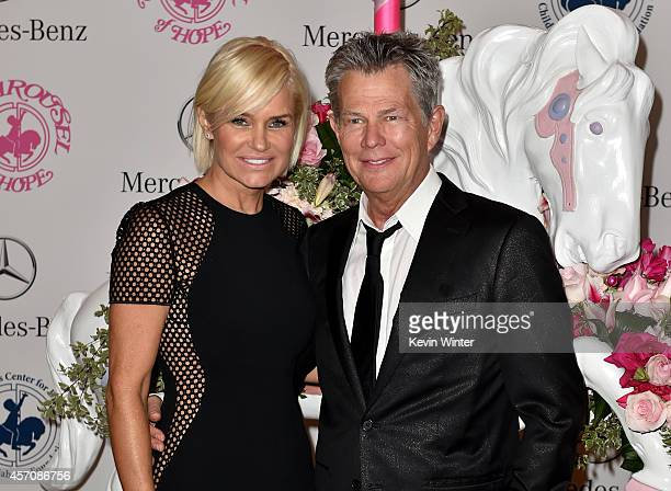TV personality Yolanda Foster and music producer David Foster attend the 2014 Carousel of Hope Ball presented by MercedesBenz at The Beverly Hilton...