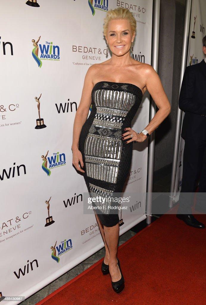TV personality Yolanda Foster attends the WIN Awards at Santa Monica Bay Womans Club on December 11, 2013 in Santa Monica, California.