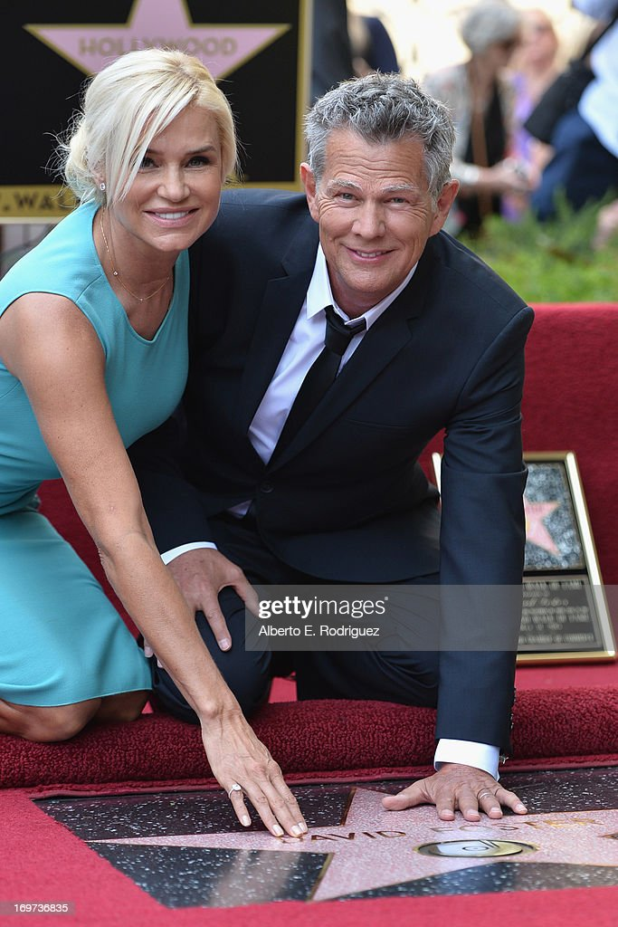 TV personality Yolanda Hadid Foster and husband songwriter <a gi-track='captionPersonalityLinkClicked' href=/galleries/search?phrase=David+Foster&family=editorial&specificpeople=210611 ng-click='$event.stopPropagation()'>David Foster</a> attend a ceremony honoring <a gi-track='captionPersonalityLinkClicked' href=/galleries/search?phrase=David+Foster&family=editorial&specificpeople=210611 ng-click='$event.stopPropagation()'>David Foster</a> with the 2,499th star on the Hollywood Walk of Fame on May 31, 2013 in Hollywood, California.