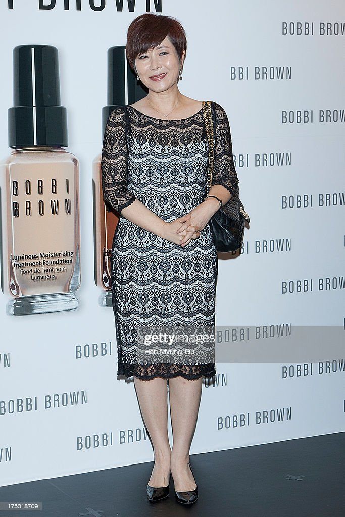 TV personality Yoon Young-Mi attends a promotional event for the 'Bobbi Brown' Pop Up Lounge Opening Party on August 2, 2013 in Seoul, South Korea.