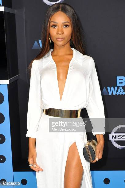 TV personality Zuri Hall arrives at the 2017 BET Awards at Microsoft Theater on June 25 2017 in Los Angeles California