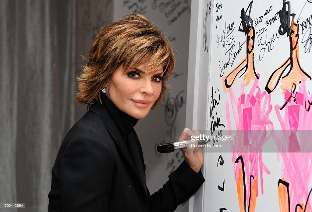 TV personality/actress Lisa Rinna attends AOL Build Presents Lisa Rinna of 'Real Housewives of Beverly Hills' at AOL Studios In New York on December...