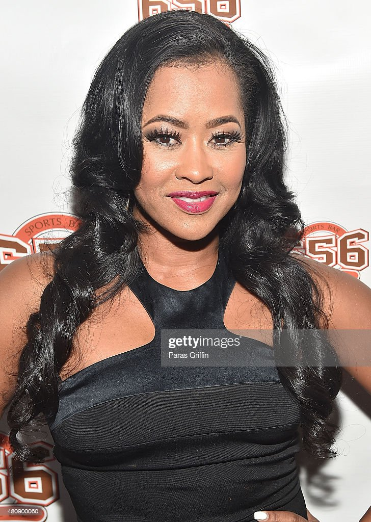 TV personality/actress Lisa Wu attends Hollywood Divas Season 2 watch party at 656 Sports Bar on July 15 2015 in Atlanta Georgia