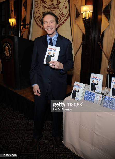TV personality/author Alan Colmes promotes the book 'Thank The Liberals For Saving America' at the New York Friars Club on October 9 2012 in New York...