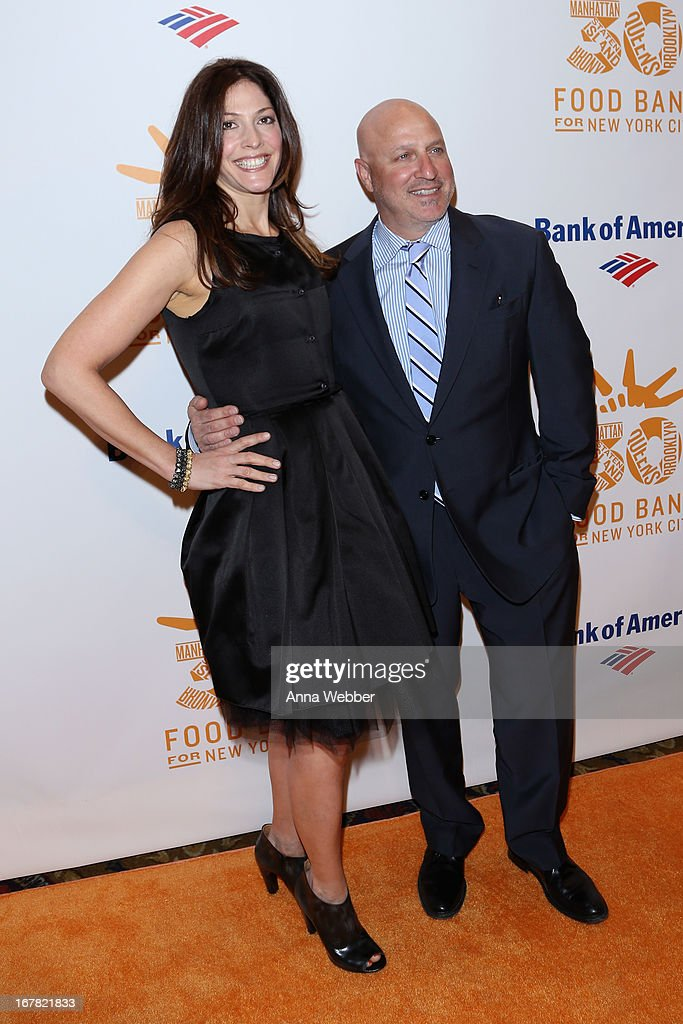 TV personality/chef Tom Colicchio (R) and Lori Silverbush arrive at the Food Bank For New York City's Can-Do Awards celebrating 30 years of service to NYC on April 30, 2013 in New York City.