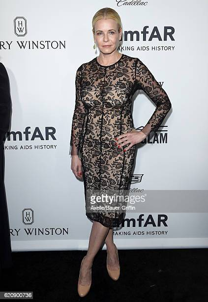 TV personality/comedian Chelsea Handler arrives at amfAR's Inspiration Gala Los Angeles at Milk Studios on October 27 2016 in Hollywood California
