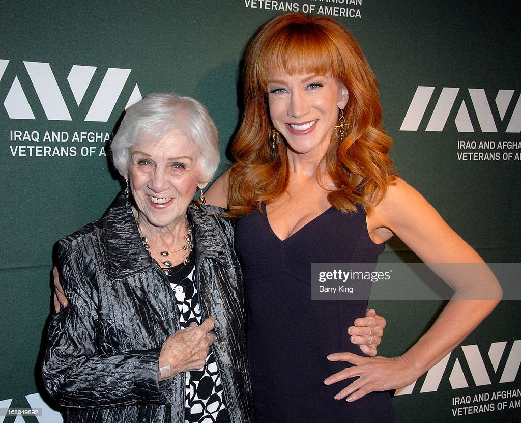TV personality/comedienne <a gi-track='captionPersonalityLinkClicked' href=/galleries/search?phrase=Kathy+Griffin&family=editorial&specificpeople=203161 ng-click='$event.stopPropagation()'>Kathy Griffin</a> (R) and mother <a gi-track='captionPersonalityLinkClicked' href=/galleries/search?phrase=Maggie+Griffin&family=editorial&specificpeople=5085993 ng-click='$event.stopPropagation()'>Maggie Griffin</a> attend the Iraq And Afghanistan Veterans Of America's 5th Annual Heroes Celebration on May 8, 2013 at the Mr. C Beverly Hills in Beverly Hills, California.