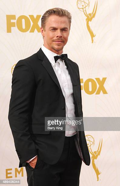 TV personality/Dancer Derek Hough arrives at the 67th Annual Primetime Emmy Awards at the Microsoft Theater on September 20 2015 in Los Angeles...