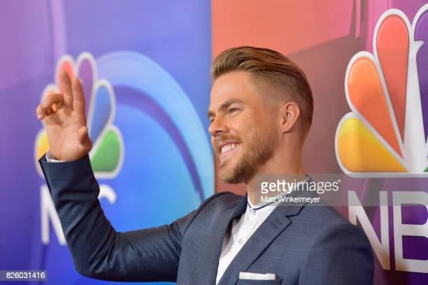 TV personality/dancer Derek Hough at the NBCUniversal Summer TCA Press Tour at The Beverly Hilton Hotel on August 3 2017 in Beverly Hills California