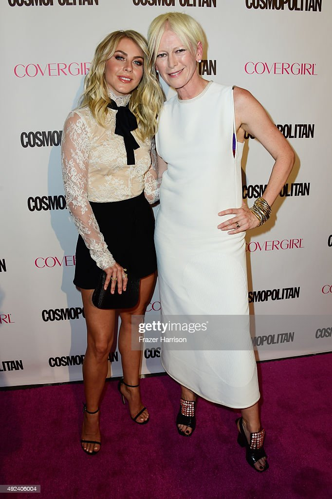 TV personality/dancer Julianne Hough and Editor in Chief of Cosmopolitan Joanna Coles attend Cosmopolitan's 50th Birthday Celebration at Ysabel on...