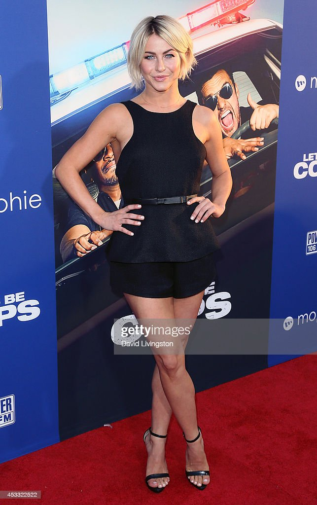 TV personality/dancer <a gi-track='captionPersonalityLinkClicked' href=/galleries/search?phrase=Julianne+Hough&family=editorial&specificpeople=4237560 ng-click='$event.stopPropagation()'>Julianne Hough</a> attends the premiere of Twentieth Century Fox's 'Let's Be Cops' at ArcLight Hollywood on August 7, 2014 in Hollywood, California.