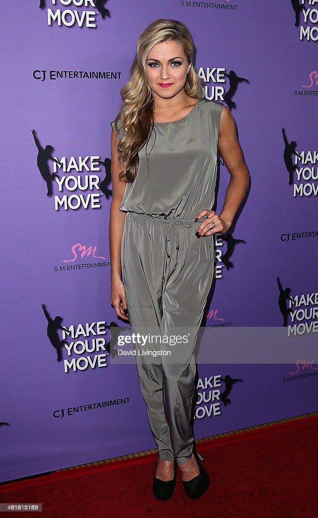 TV personality/dancer <a gi-track='captionPersonalityLinkClicked' href=/galleries/search?phrase=Lindsay+Arnold&family=editorial&specificpeople=10536483 ng-click='$event.stopPropagation()'>Lindsay Arnold</a> attends a screening of 'Make Your Move' at Pacific Theatre at The Grove on March 31, 2014 in Los Angeles, California.