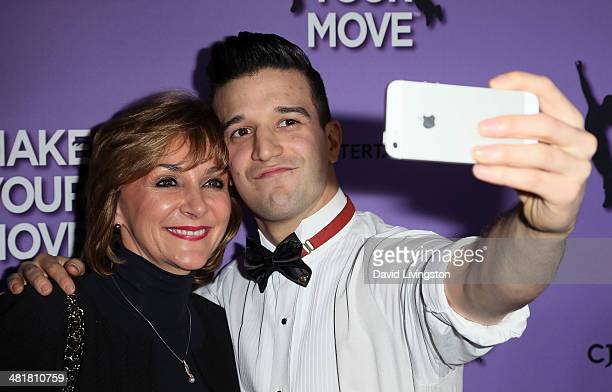TV personality/dancer Mark Ballas and mother ballroom dancer Shirley Ballas attend a screening of 'Make Your Move' at Pacific Theatre at The Grove on...