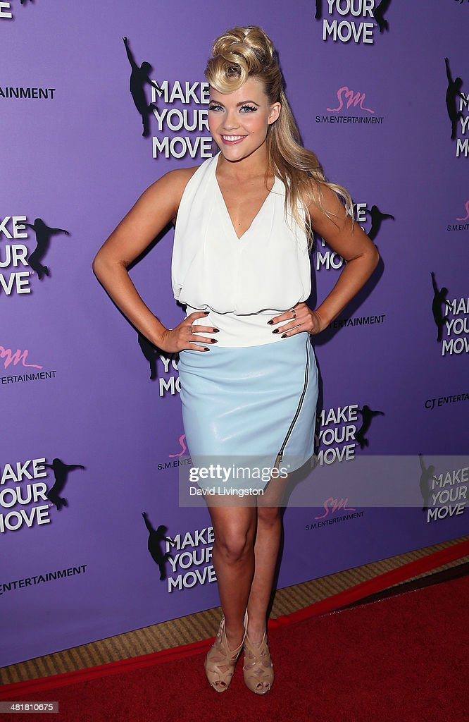 TV personality/dancer Witney Carson attends a screening of 'Make Your Move' at Pacific Theatre at The Grove on March 31, 2014 in Los Angeles, California.
