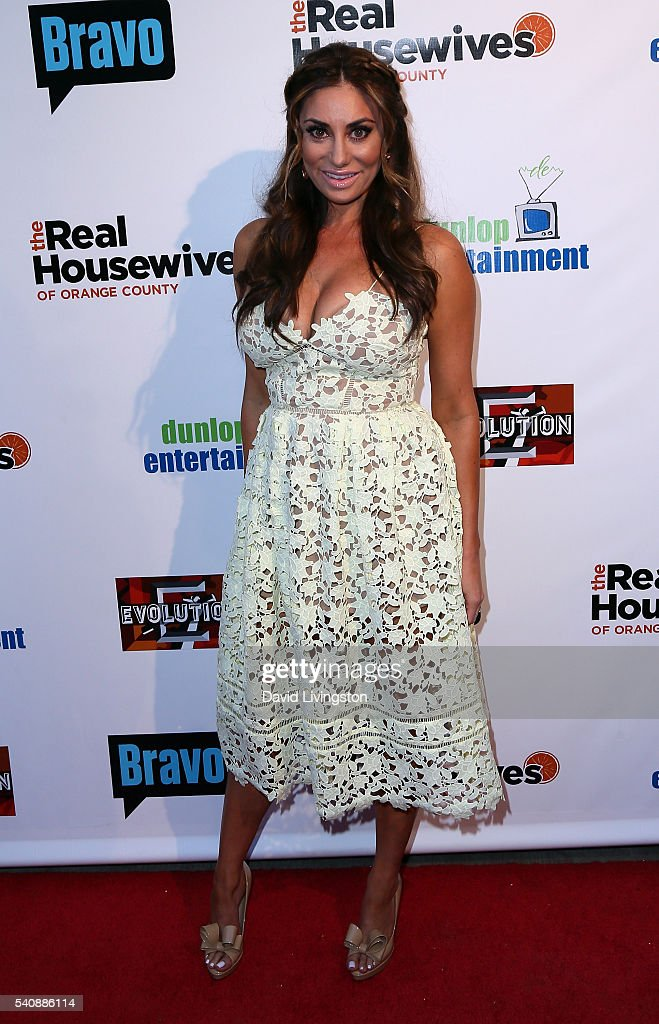 TV personality/designer Lizzie Rovsek attends the premiere party for Bravo's 'The Real Housewives of Orange County' 10 Year Celebration at Boulevard3...